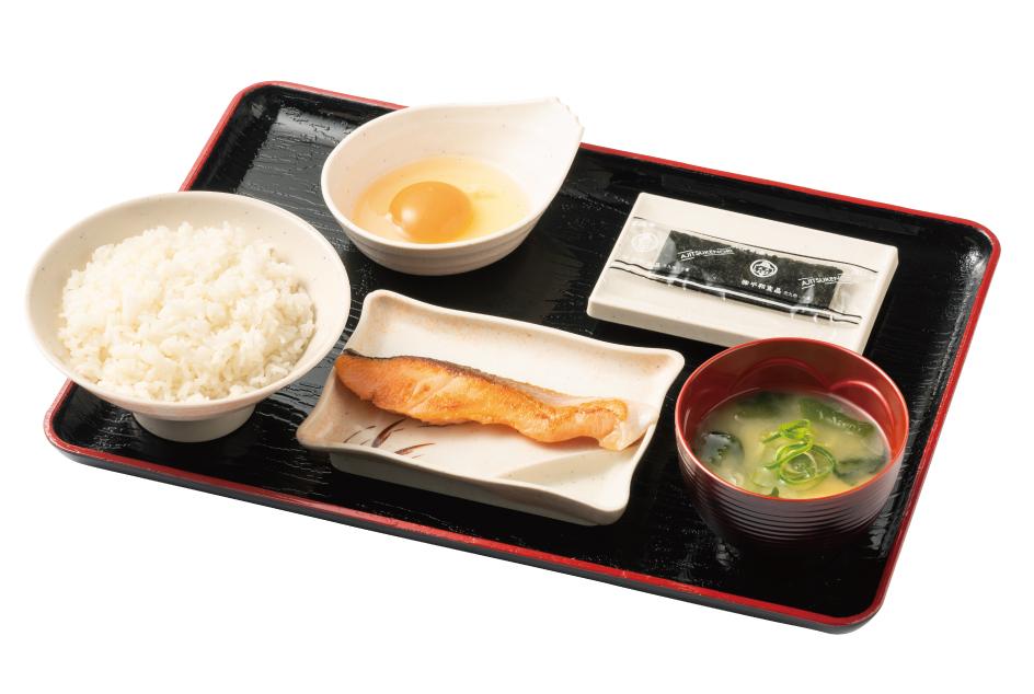 朝定食(鮭)