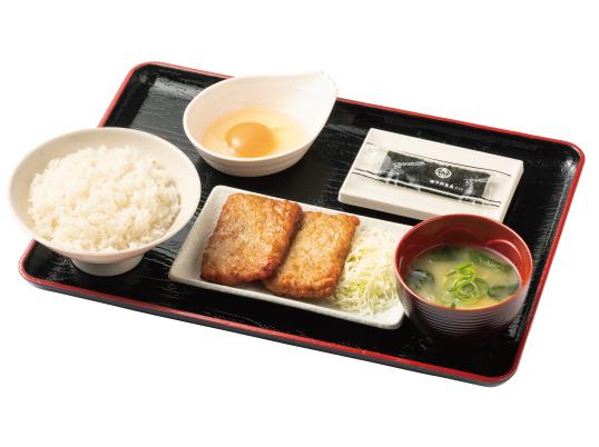 朝定食(鶏つくね)
