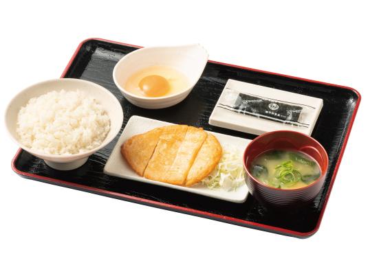 朝定食(炙り天)