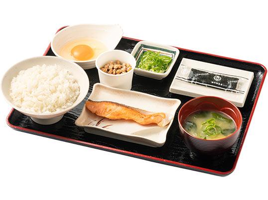 朝定食(鮭納豆)